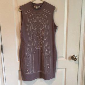 Purple hourglass dress